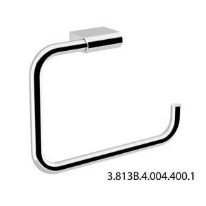 JIKA PURE törölközőtartó gyűrű szögletes 22,5x16,5 cm króm (3813B4-1)