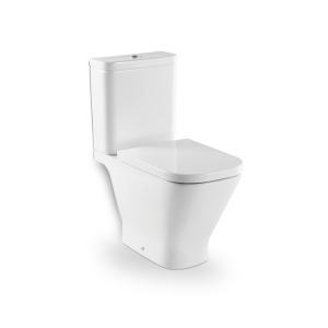 Roca The Gap monoblokkos WC, mélyöblítésű, hátsó kifolyású, ülőke és tartály nélkül (7.3424.7.700.0)