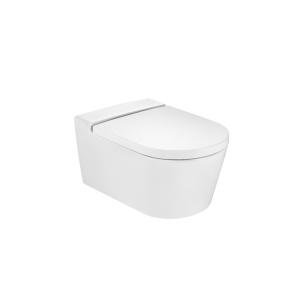 Roca Inspira Round mélyöblítésű, perem nélküli, fali WC, ülőke nélkül (A346527000)