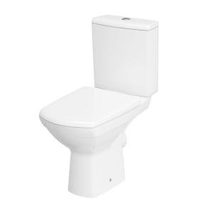 Cersanit Carina perem nélküli, mélyöblítésű, Monoblokkos hátsó kifolyású WC + tartály 010 oldalsó bekötéssel LECSAPÓDÁSMENTES WC TETŐVEL (K31-044)