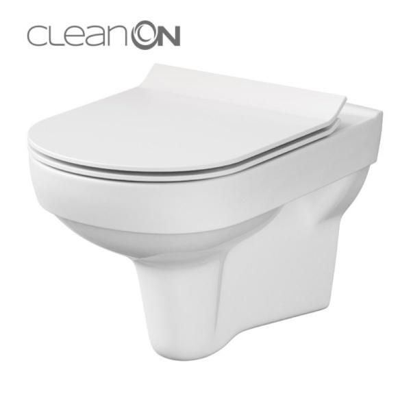 Cersanit City fali WC, perem nélküli, mélyöblítésű, TETŐ NÉLKÜL