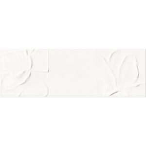 OPOCZNO STRUCTURE PATTERN WHITE FLOWER 25x75 (OP365-004-1)