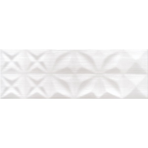 OPOCZNO DELICATE LINES WHITE GLOSSY STRUCTURE 25X75 (OP432-004-1)