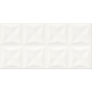 Opoczno Origami Dune WHITE GLOSSY STRUCTURE 29,7x60 cm (OP658-023-1)