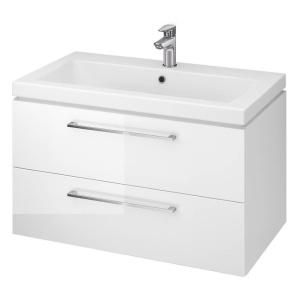Cersanit Lara Szekrény + Como 80-as mosdóval, Fényes Fehér színben, (S801-149-DSM)