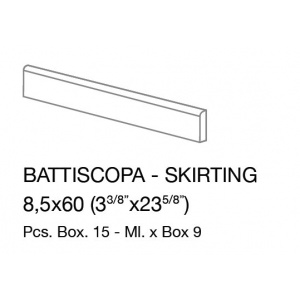 Ergon STONE PROJECT WHITE CONTROFALDA lábazati elem  8,5x60 cm NAT