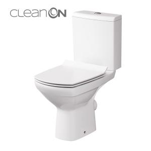 Cersanit Carina 010 monoblokkos kompakt WC perem nélküli, mélyöblítésű, hátsó kifolyású, oldalsó bekötésű (3/5) ÜLŐKE NÉLKÜL