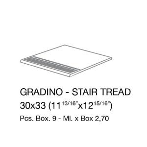 Ergon STONE PROJECT WHITE STRUTTURATO GRADINO 30x33 cm R11