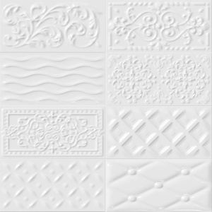 Vives Rivoli 10x20 cm Raspail Bianco fali csempe