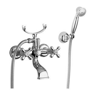 Bugnatese Old-800 (002CR) króm kádcsaptelep Fix tartós zuhanyszettel
