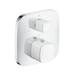 Hansgrohe PuraVida króm zuhanycsaptelep termosztátos, falsík alatti elzáró,-és váltószeleppel (15771000)