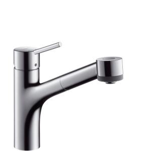 Hansgrohe Talis króm konyhai csaptelep kihúzható zuhanyfejes (32841000)