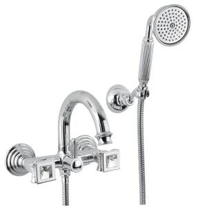 Bugnatese OLYMPIA (8402KCR) króm Kádcsaptelep zuhanyszettel swarovski fog.val