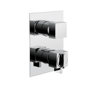 BUGNATESE TETRIS (9153CR) Fal alatti termosztátos 3 állású zuhanycsaptelep