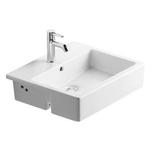 Duravit Vero félig beépíthető mosdó, 1 csaplyukkal (0314550000)