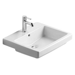 Duravit Vero beépíthető mosdó, 1 csaplyukkal (0315550000)