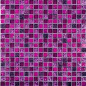 Melange mozaik csempe Glitz Violet (15x15x8mm)