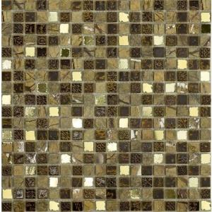 Melange mozaik csempe Pompeii Marrone (15x15mm)