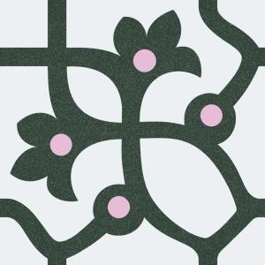 Vives 1900 Jujol Grafito 20x20 cm beltéri padlólap