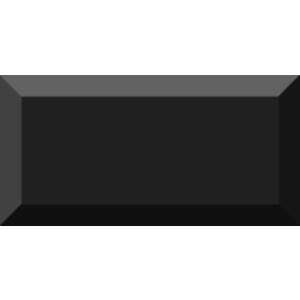 Vives Mugat 10x20 cm Negro fali csempe