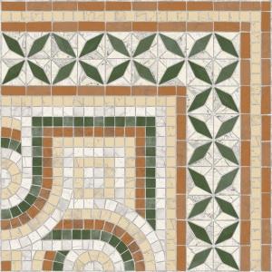 Vives VIA APPIA CANTONERA PAXOS MARRON 43,5x43,5 cm