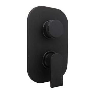 Bugnatese Simple 3-állású zuhanycsaptelep, matt fekete (6631OP)