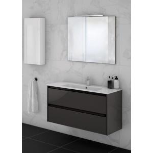 Sansa 100-As Fürdőszobabútor Fali, Antrachite Glossy Színben