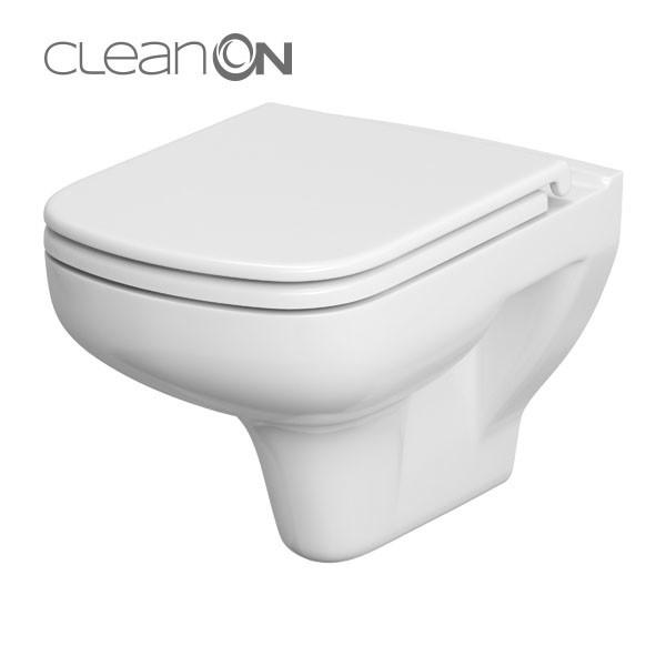 Cersanit Colour fali WC, perem nélküli, mélyöblítésű, TETŐ NÉLKÜL