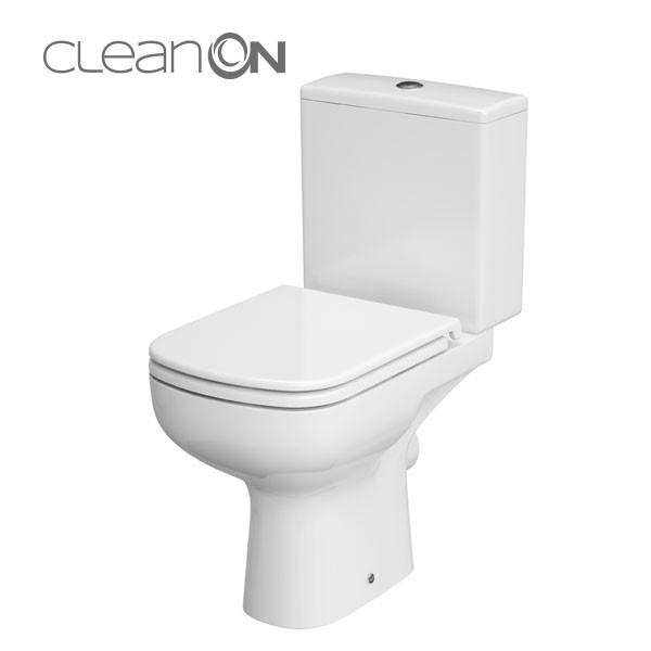 Cersanit Colour 010 Kompakt monoblokkos WC, perem nélküli, mélyöblítésű, oldalsó bekötésű (3/5), TETŐ NÉLKÜL - 010
