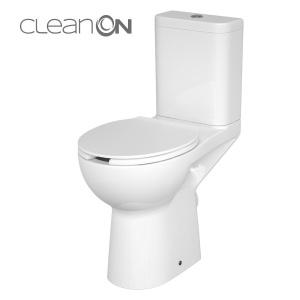 Cersanit Etiuda 579 Akadálymentes Kompakt monoblokkos WC, perem nélküli, mélyöblítésű, hátsó kifolyású, oldalsó bekötésű (3/6), TETŐ NÉLKÜL