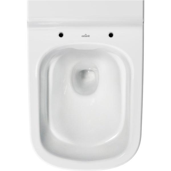 Cersanit Caspia fali WC, perem nélküli, mélyöblítésű, TETŐ NÉLKÜL