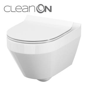 Cersanit Crea ovális, perem nélküli, mélyöblítésű, fali WC (K114-015)
