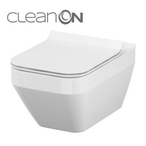 Cersanit Crea szögletes, perem nélküli, mélyöblítésű, fali WC (K114-016)