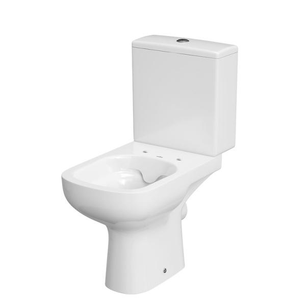 Cersanit Colour 011 Kompakt monoblokkos WC, perem nélküli, mélyöblítésű, alsó bekötésű (3/5), TETŐ NÉLKÜL - 010