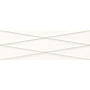 Gravity White Silver Inserto Satin 24X74