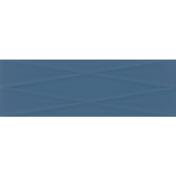 Gravity Marine Blue Lines Structure Satin 24X74