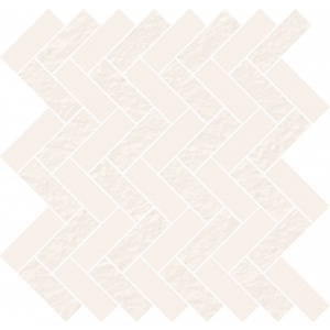 White Micro Mosaic Parquet Mix 33,1X33,1