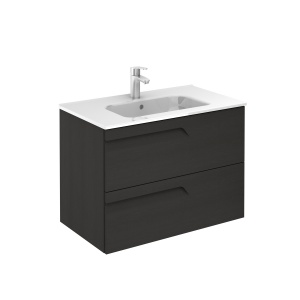 Vitale 80-As Fürdőszobabútor Fali, Nature Grey Színben, Kyra mosdóval
