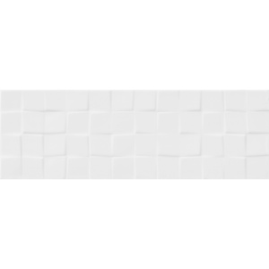 White Glossy Structure Cubes 20X60