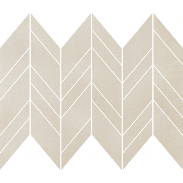 Safari Cream Chevron Mix Mosaic Matt 25,5X29,8