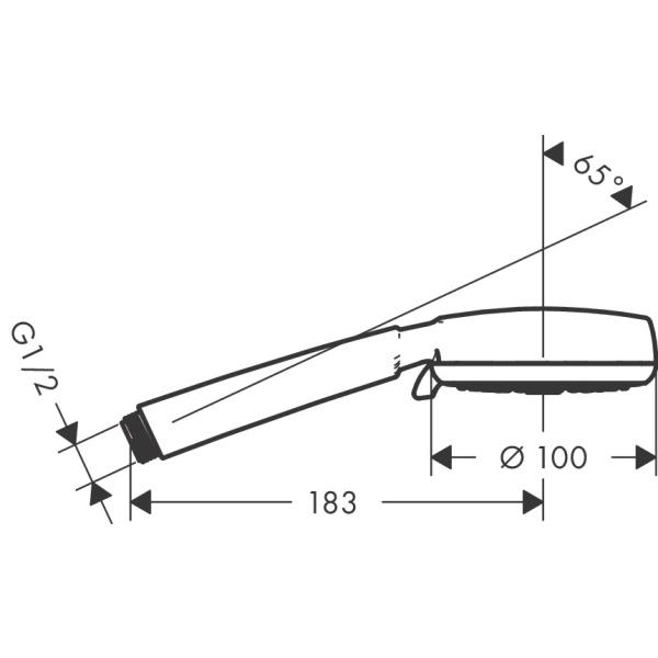 Hansgrohe Crometta100 Vario kézizuhany DN 15  fehér/