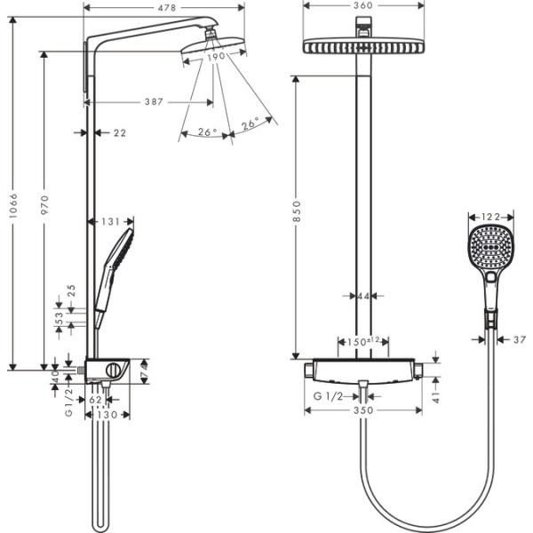 Hansgrohe Raindance Select Showerpipe 360