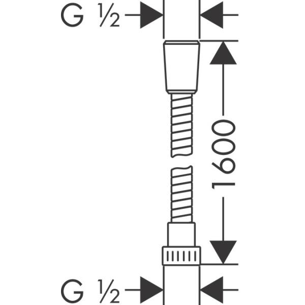 Hansgrohe Metaflex zuhanycső 1 60 m