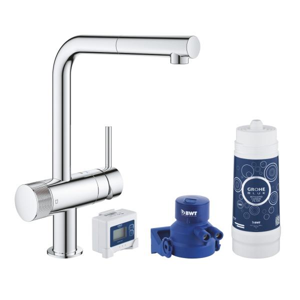 Grohe Blue Pure Minta vízszűrős mosogatócsaptelep alapcsomag (30382000)