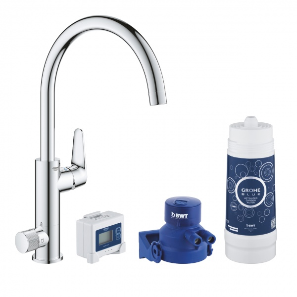 Grohe Blue Pure BauCurve vízszűrős mosogatócsaptelep alapcsomag (30385000)