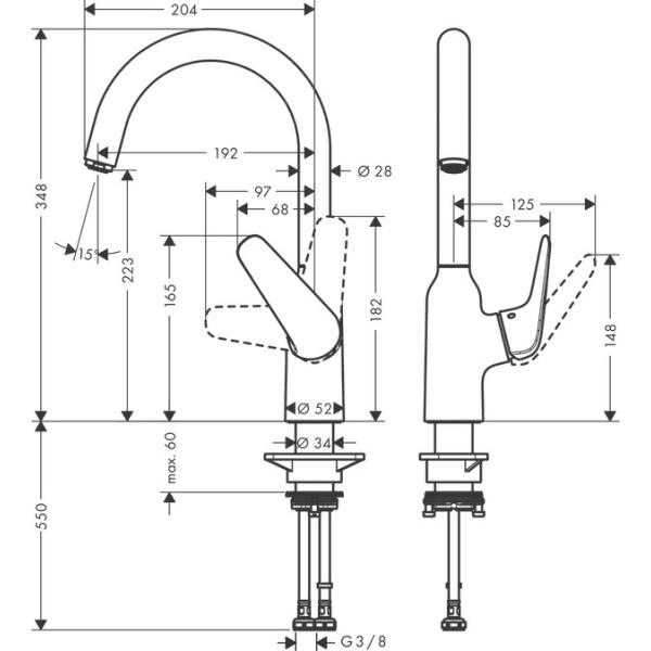 Hansgrohe M421-H220 konyhai csaptelep
