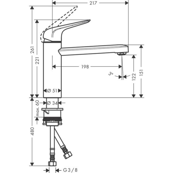 Hansgrohe M421-H120 konyhai csaptelep