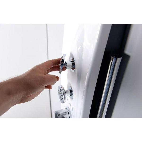 Polysan Mola termosztátos, hidromasszázs, Sarok zuhanypanel (80372)