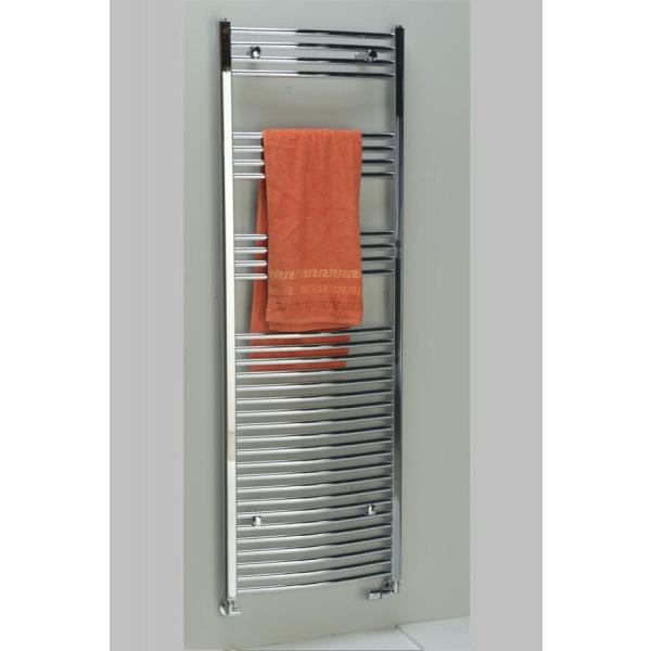 ALYA íves fürdőszobai radiátor, Króm