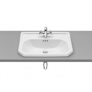 Roca Carmen Beépíthető mosdó , 1 csaplyukkal középen 60x45